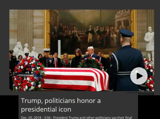 Trump Pays Respect to Bush 41