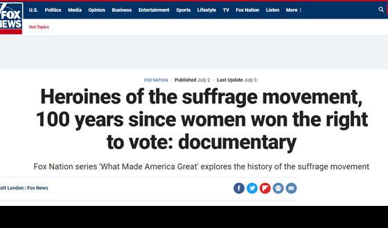 Suffrage News Fox Nation