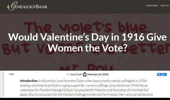 Valentine's Day Suffrage