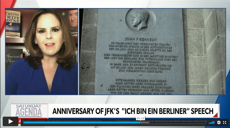 By the 1970s, a plaque in German honoring JFK was on display.