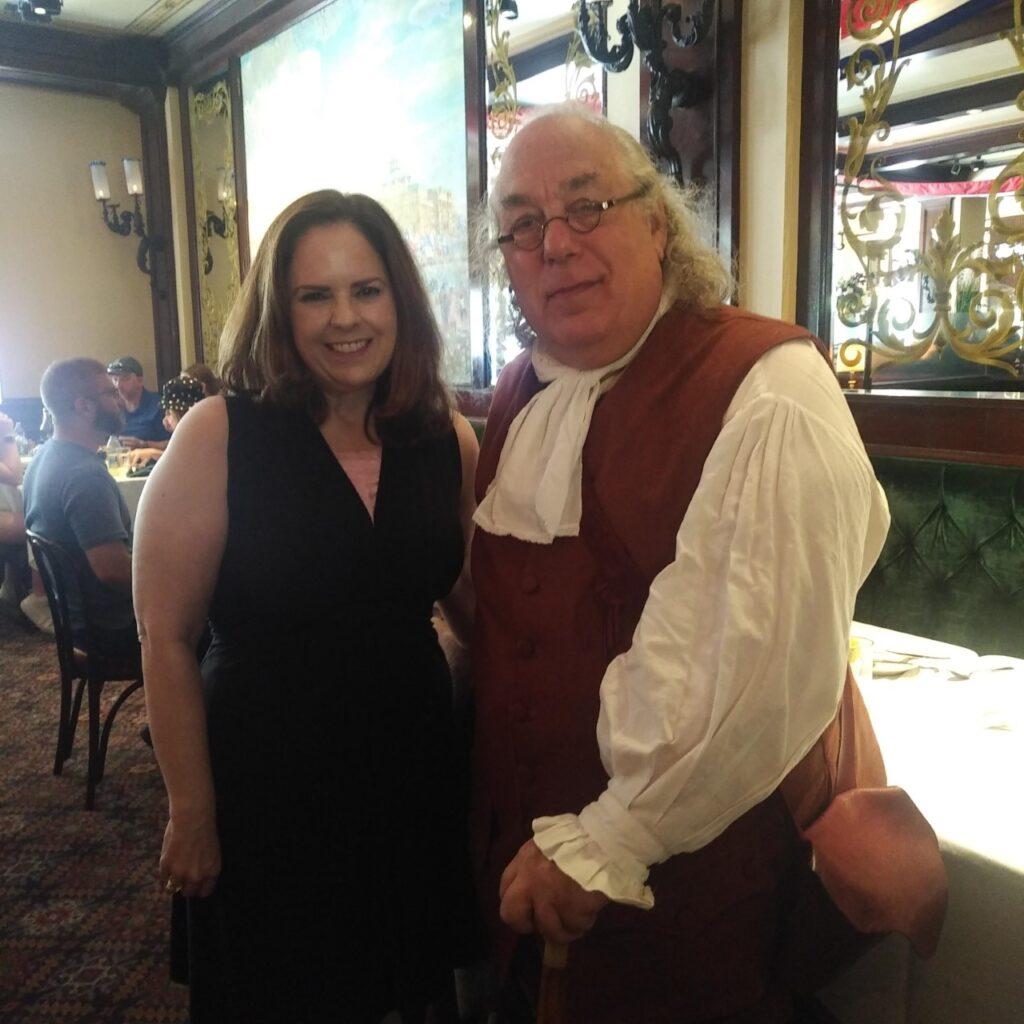 Jane with Ben Franklin